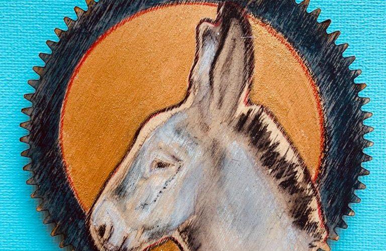 kerst decoratie | ezel